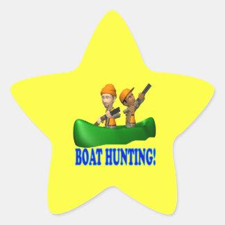 Boat Hunting Star Sticker