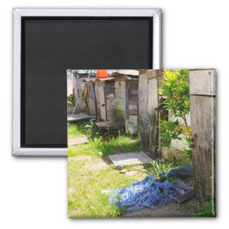 boat huts 2 inch square magnet