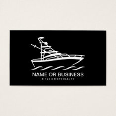Boat Icon Business Card at Zazzle