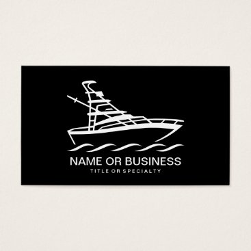 Wedding Themed boat icon business card