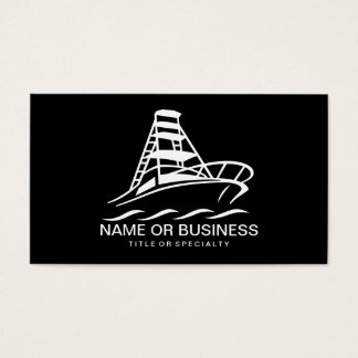 boat icon business card