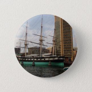 Boat in Baltimore Harbor Button
