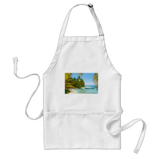 Boat In Caribbean Adult Apron