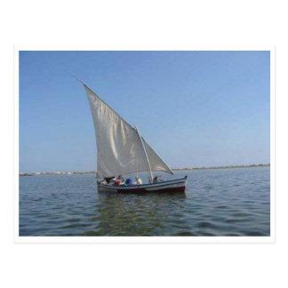Boat in Mediterranean sea Postcard