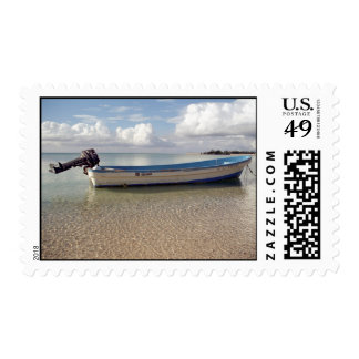 Boat in Paradise Stamp