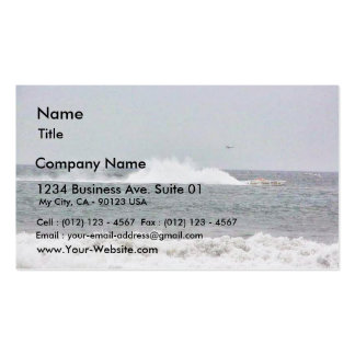 Boat In Race Double-Sided Standard Business Cards (Pack Of 100)
