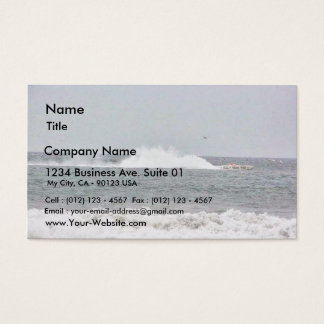 Boat In Race Business Card