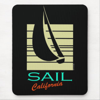 Boat in Square_Sail California_moonlight cruise Mouse Pad