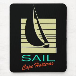Boat in Square_Sail Cape Hatteras_moonlight cruise Mouse Pad