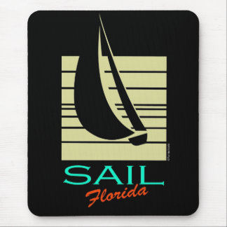 Boat in Square_Sail Florida cruise Mouse Pad
