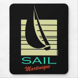 Boat in Square_Sail Martinique_moonlight cruise Mouse Pad