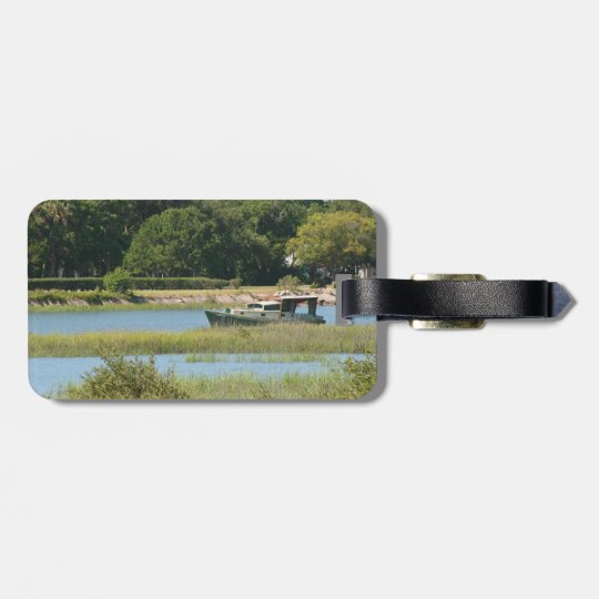 Boat in st augustine inlet  in Florida Luggage Tag