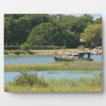 Boat in st augustine inlet  in Florida Display Plaque