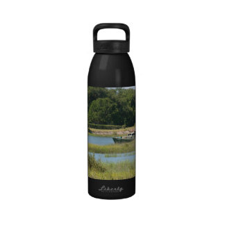 Boat in st augustine inlet  in Florida Drinking Bottle