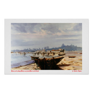 Boat in the beach/Boat na praia/Boat on the beach Poster