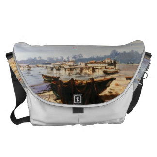 Boat in the beach courier bag