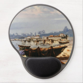 Boat in the beach gel mouse pad