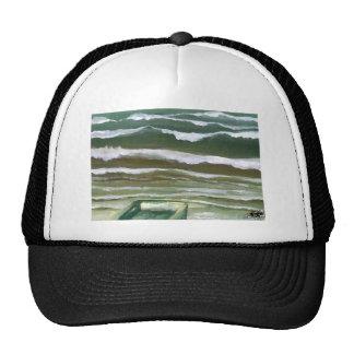 Boat in the Edge of the Sea Ocean Waves Art Trucker Hat