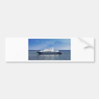 boat in the sea bumper sticker