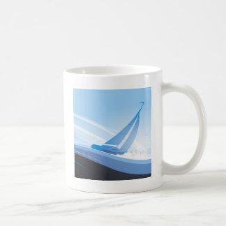 Boat in The Sea Coffee Mug