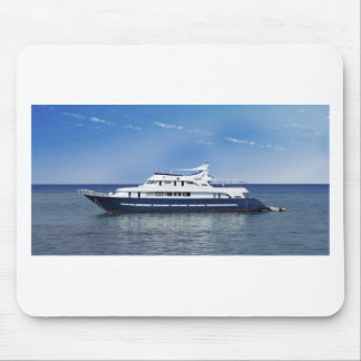 boat in the sea mouse pad