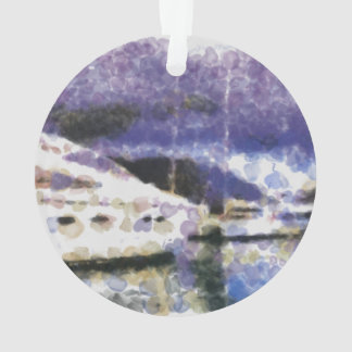 Boat in the water ornament