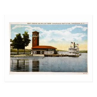 Boat Landing and Miller Tower Postcard