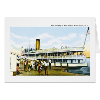 Boat Landing at New Harbor, Block Island, R.I. Card