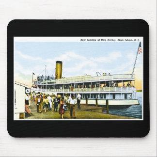 Boat Landing at New Harbor, Block Island, R.I. Mouse Pad