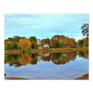 Boat Landing Reflections Photo Print