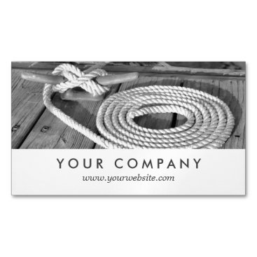 Beach Themed Boat Line Magnetic Business Card