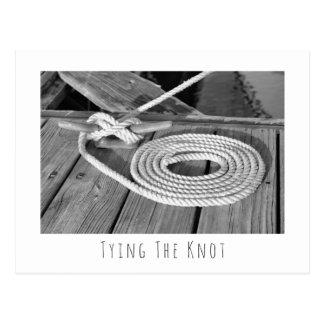 Boat Line Save The Date Postcard