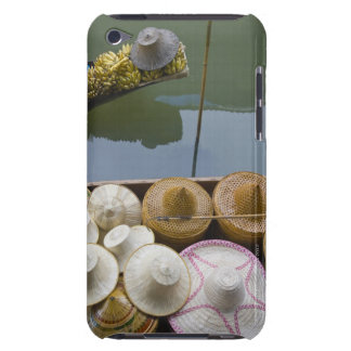 Boat loaded with bamboo hats at floating market iPod touch case