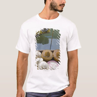 Boat loaded with bamboo hats at floating market T-Shirt