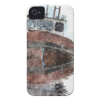 Boat-lovers Fishing Trawler Watercolour Art Series iPhone 4 Cover