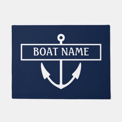 Boat Name Dock Mat
