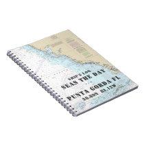 Boat Name FL Gulf Coast Nautical Chart Ship's Log Notebook