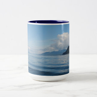 Boat near Auke Bay, Alaska Two-Tone Coffee Mug