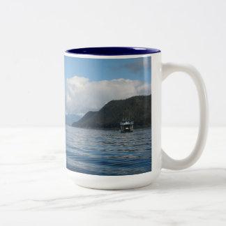 Boat near Auke Bay, Alaska Mugs