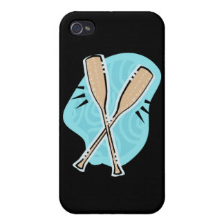 boat oars graphic iPhone 4 cases