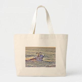 Boat Ocean Fishing Seaview Oceanview Pictures Canvas Bag