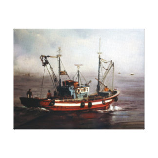 Boat of fishing/Pesqueiro/Fishing boat Canvas Print