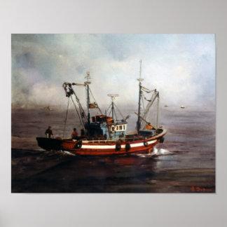 Boat of fishing/Pesqueiro/Fishing boat Poster