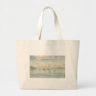 Boat of Francois Bocion Lac Leman Large Tote Bag