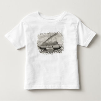 Boat of the Mortlock Islands with outrigger Toddler T-shirt