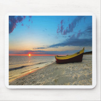 Boat On A Beach Mouse Pad