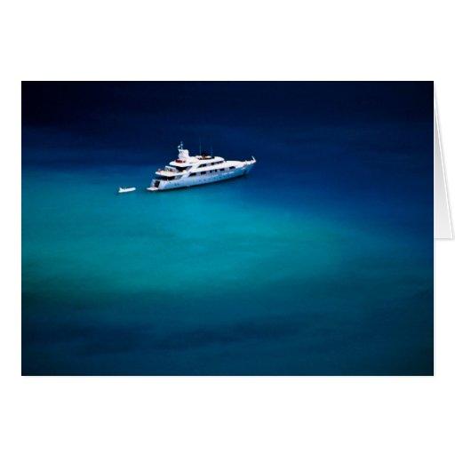 Boat on Magens Bay, St. Thomas, U.S. Virgin Island Greeting Card