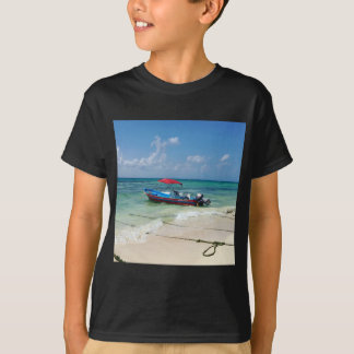 Boat on Playa Del Carmen T-Shirt