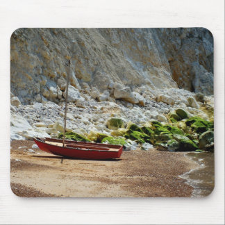 Boat on the beach at Alum Bay Mouse Pad