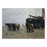 Boat on the Beach at Scheveningen, 1876 Card